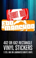 Rectangle Vinyl Stickers