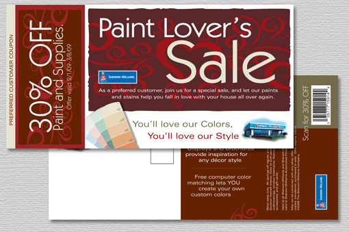 Sherwin Williams Valentines Day Direct Mail Flyer